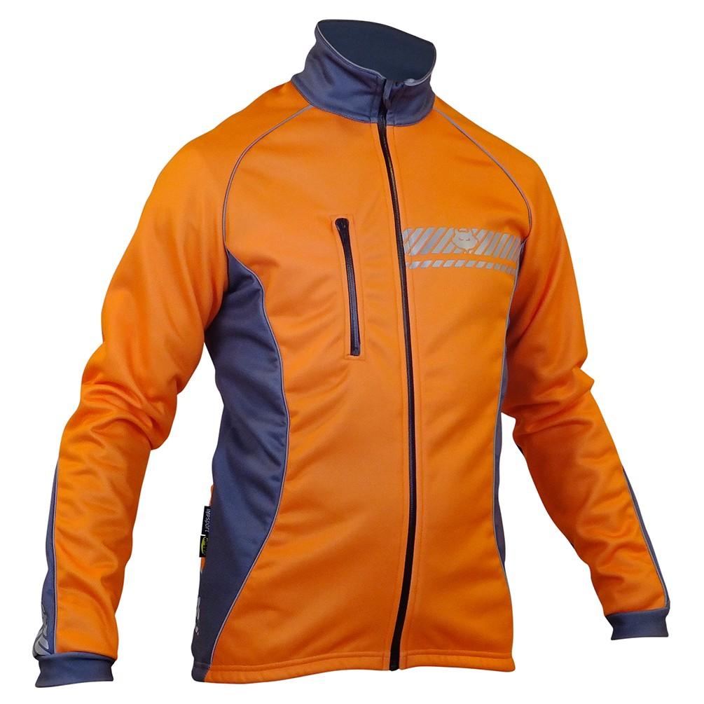 Impsport Polar Winter Cycling Jacket (Flo Orange/Grey) Front