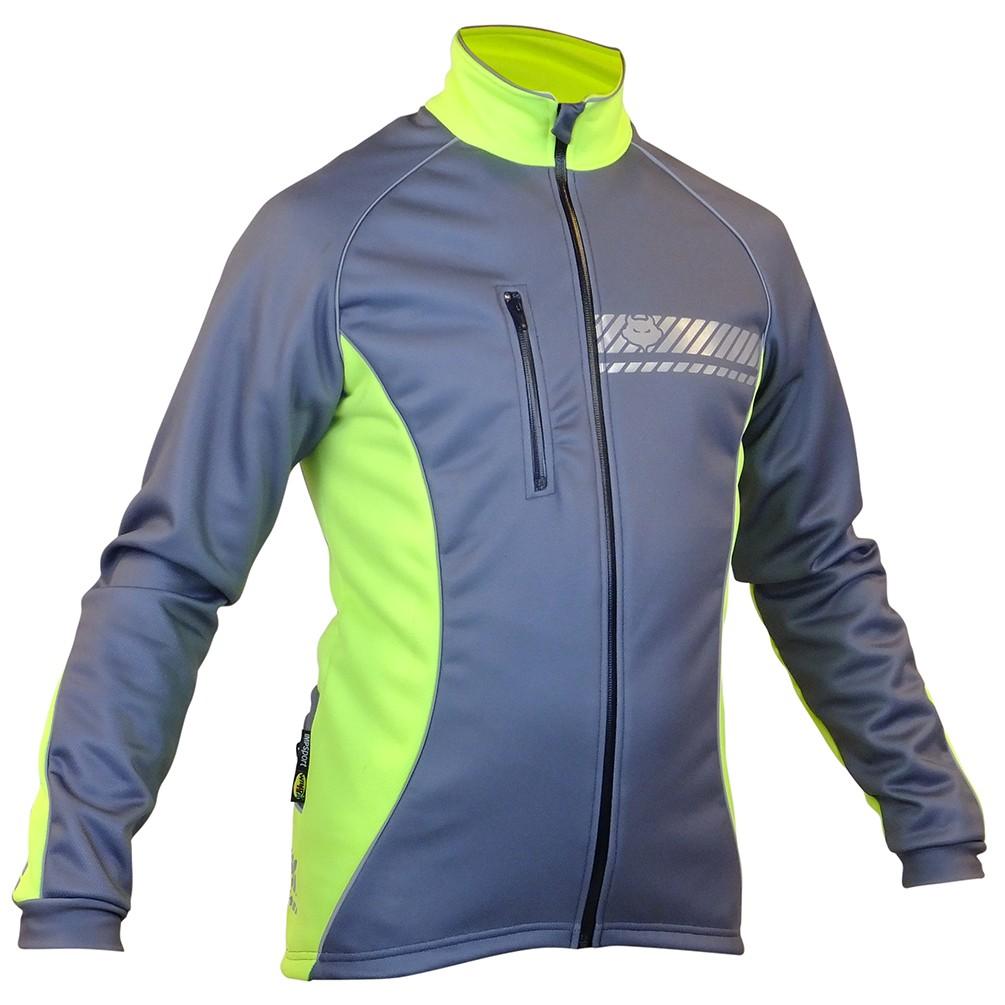 Impsport Polar Winter Cycling Jacket (Grey/ Flo Yellow) Front