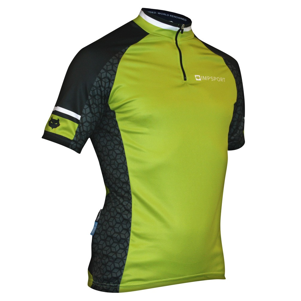 Impsport Nemesis Lime Cycling Jersey Front