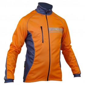 Impsport Polar Winter Cycling Jacket (Flo Orange/Grey) Front