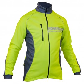 Impsport Polar Winter Cycling Jacket (Flo Yellow/Grey) Front