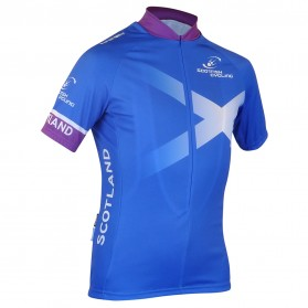 Scottish Cycling Replica Jersey With 3/4 Zip
